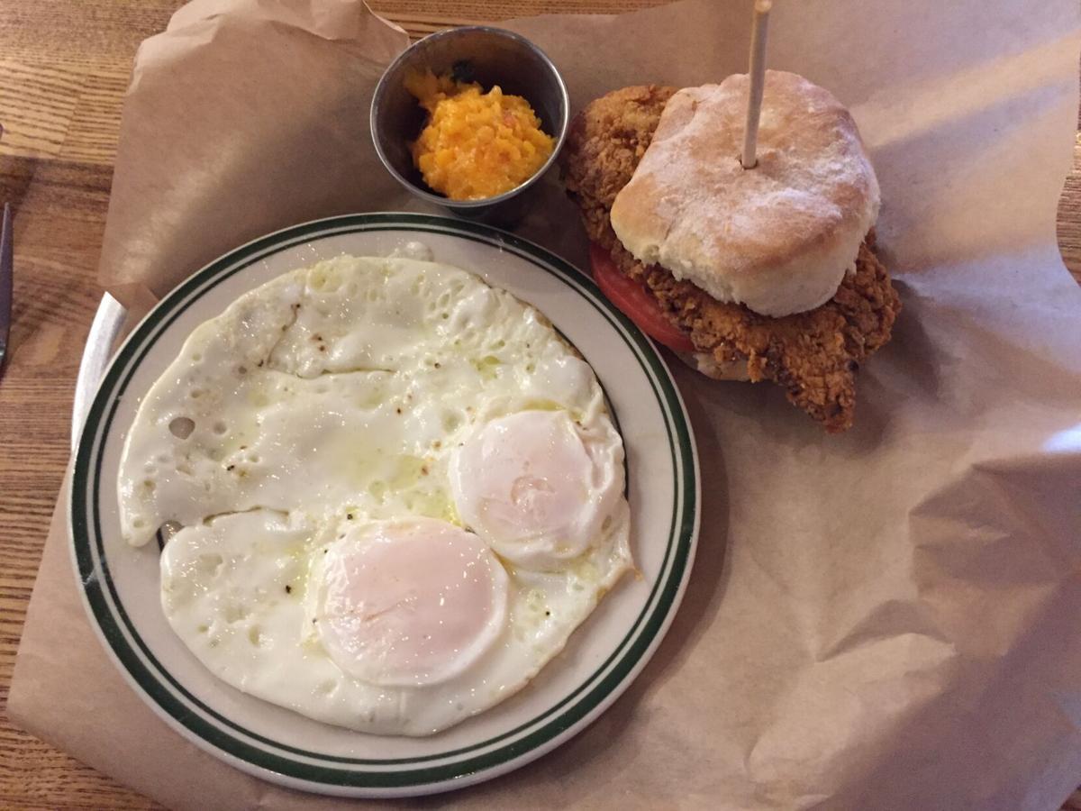 SoCra Brunch chkn biscuit w 2 eggs mwell.JPG