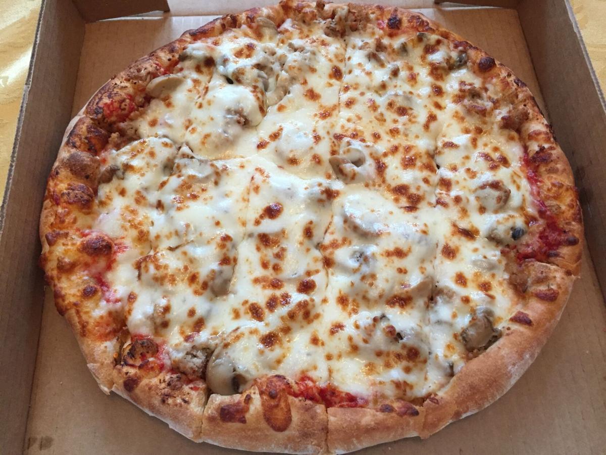 Rocky's Pizza sausage & mushroom.JPG