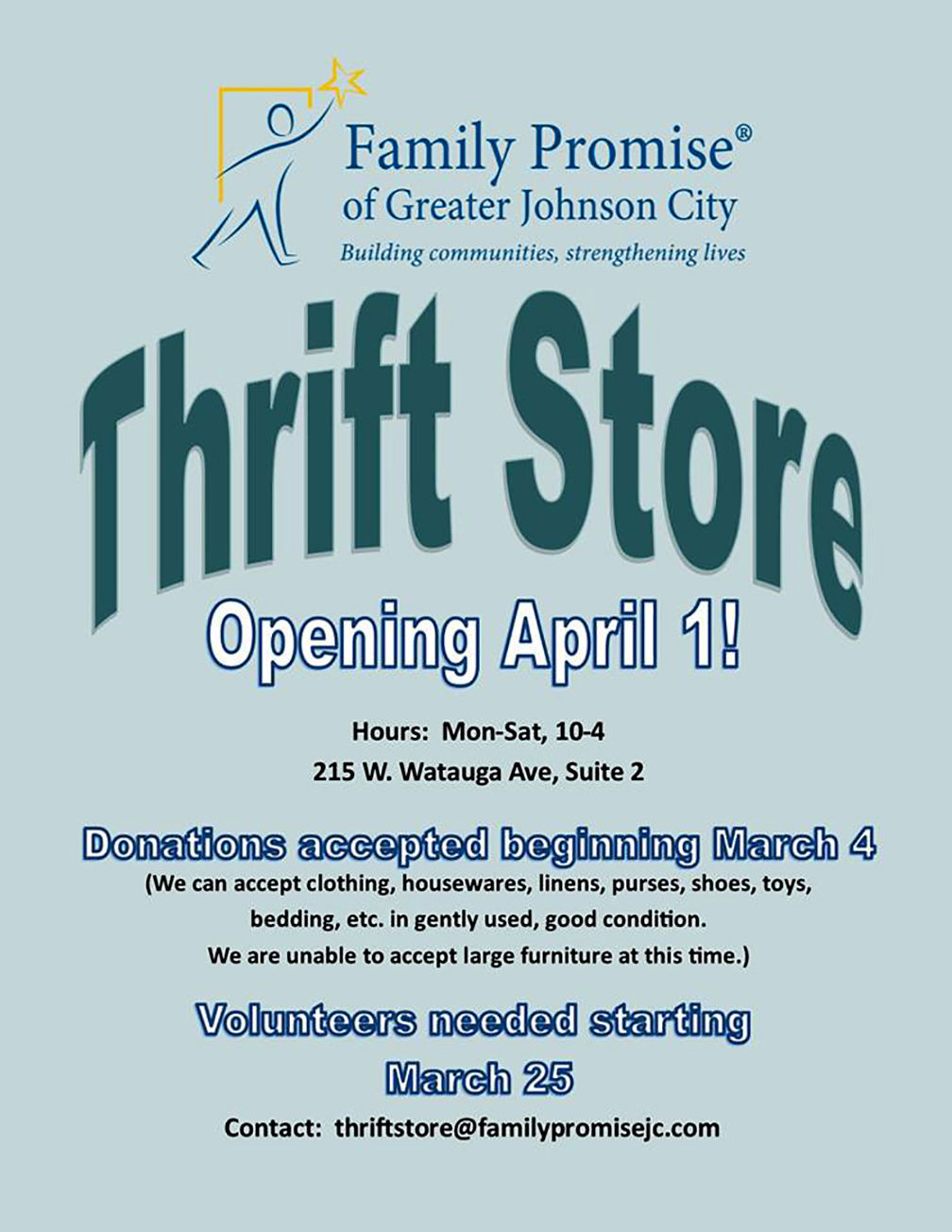 Family Promise Thrift Store opens Monday, Pro-To Club Fashion Show on the runway