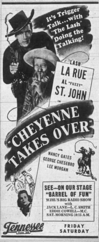 """Cheyenne Takes Over"" at the Tennessee"