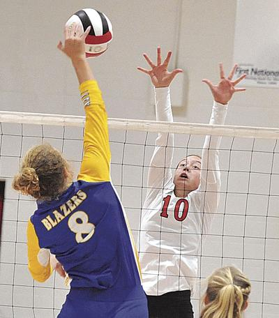 Lady Blazers clip Lady Bearcats in four sets