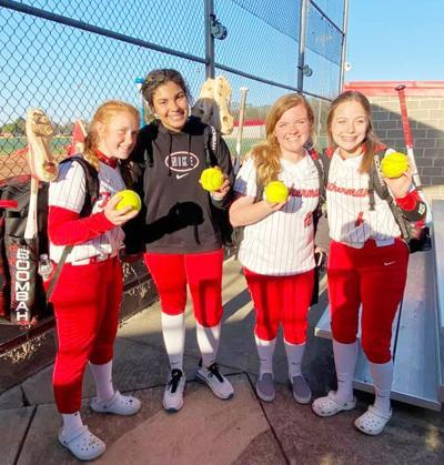 Four Tuckerman Lady Bulldogs hit home runsagainst Salem