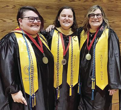 Mother and two daughters obtain master's degrees