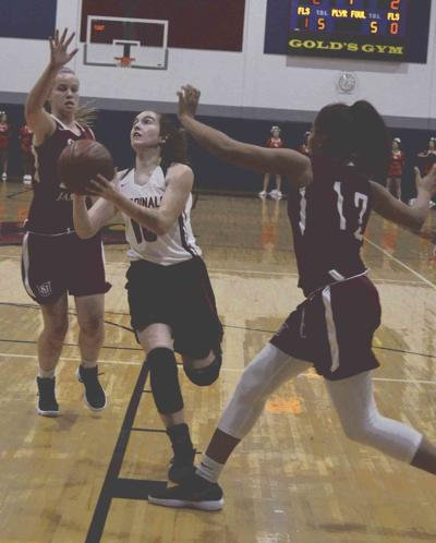 Saint James downs Spring Mills girls