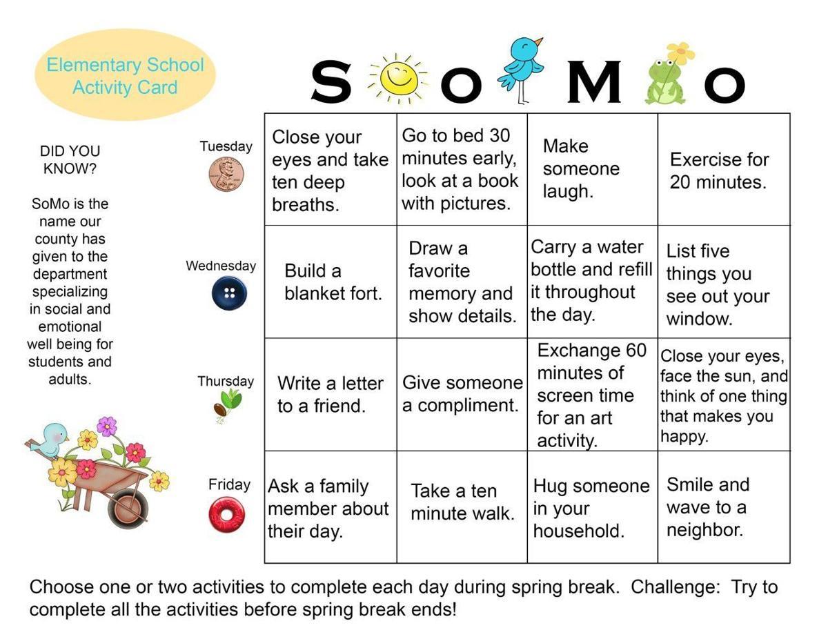 thumbnail_Spring Break Activity Card - Elementary