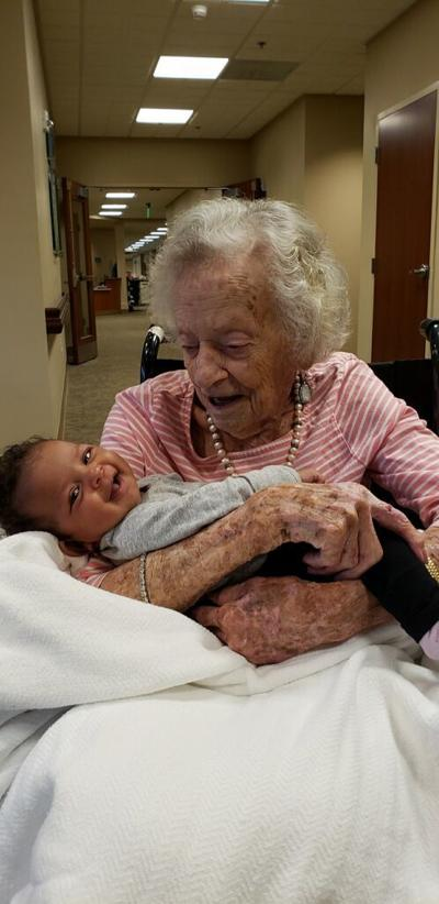 Beverly Ater with baby