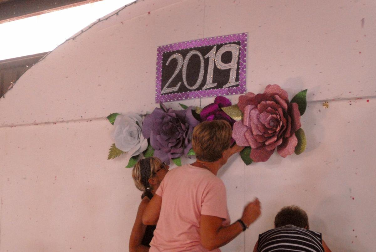 Over 75 handmade flowers will decorate the Berkeley County Youth Fair Stage