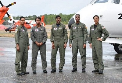 Coast Guard's Fab Five virtually share experiences as first African American female aviators
