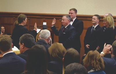 Powell takes oath of office, plans to tackle crime, drugs