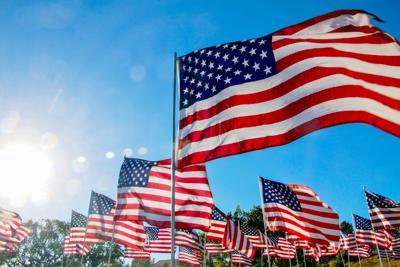 USA flag stock