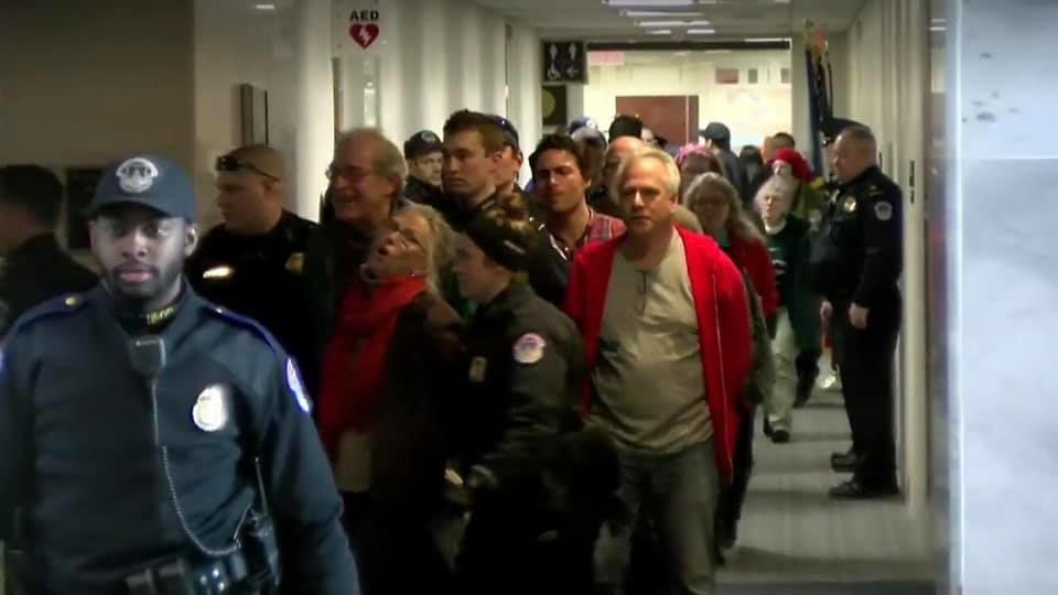 11 local Rockwool demonstrators arrested in Washington D.C.