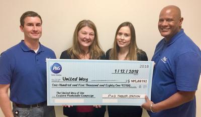 P&G donates $105K to United Way