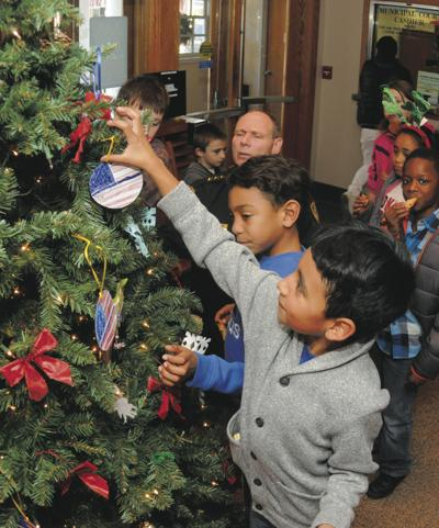 Elementary students decorate MPD tree