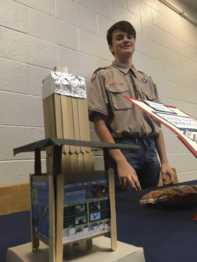 Local Scout working toward project completion
