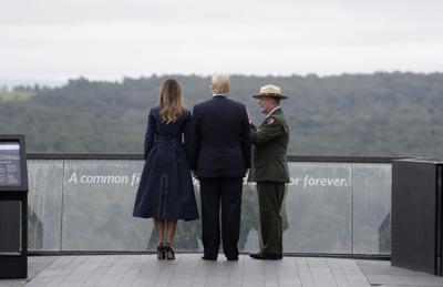 Trump visits Flight 93 memorial to mark anniversary of attack