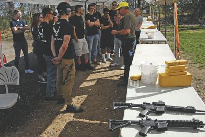 Future airmen train at gun range