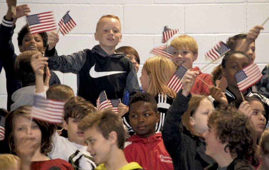 Spring Mills Middle School's 'Patriots' honor veterans
