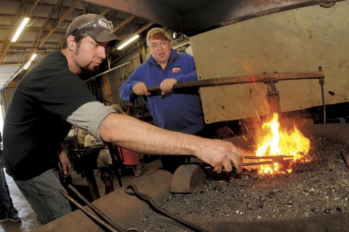 Morrisey stops at VinTin Welding and Blacksmithing
