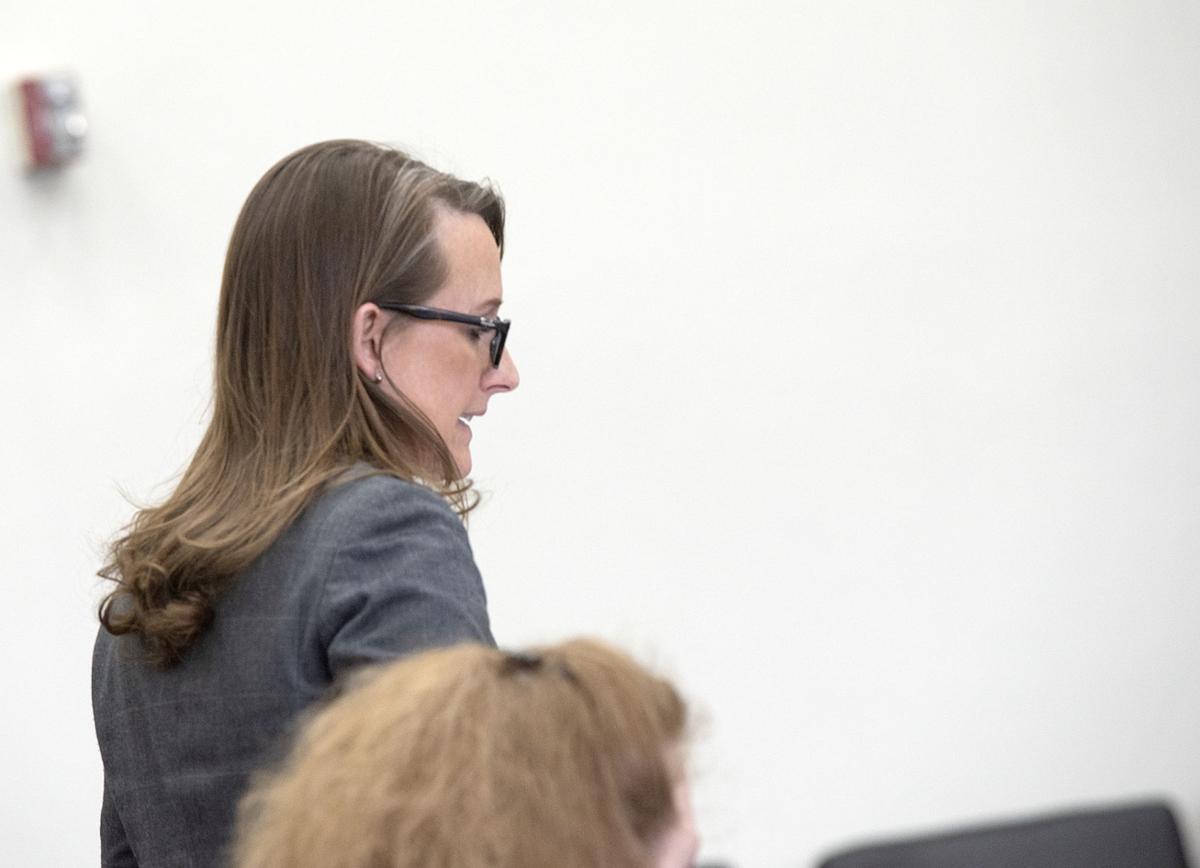 Dana Rhoades in th courtroom