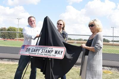 Dr. Gary Stamp Way dedicated