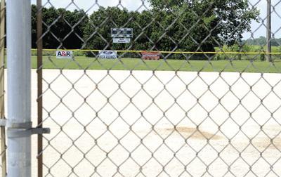 White Heath ball field backstop