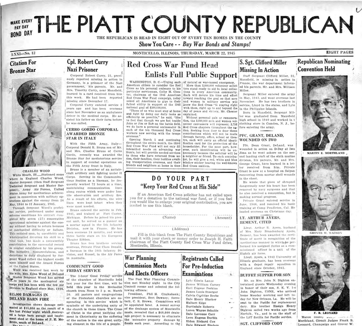 Piatt County Republican March 1945