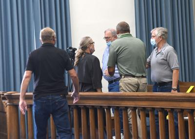 Altercation before board meeting