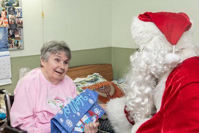 Santa at the nursing home