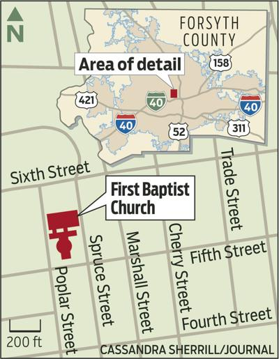 First Baptist Church map