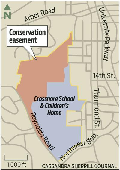 Map of conservation easement