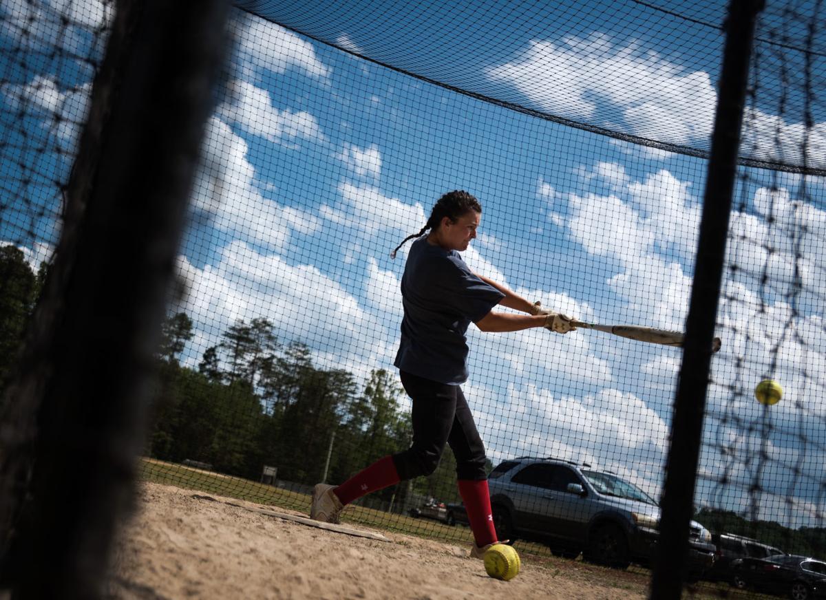 North Stokes Softball Practice