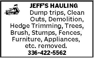 Jeff's Carting & Hauling