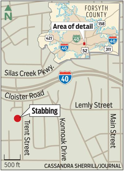 Location of stabbing incident