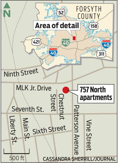 Location of 727 North apartments