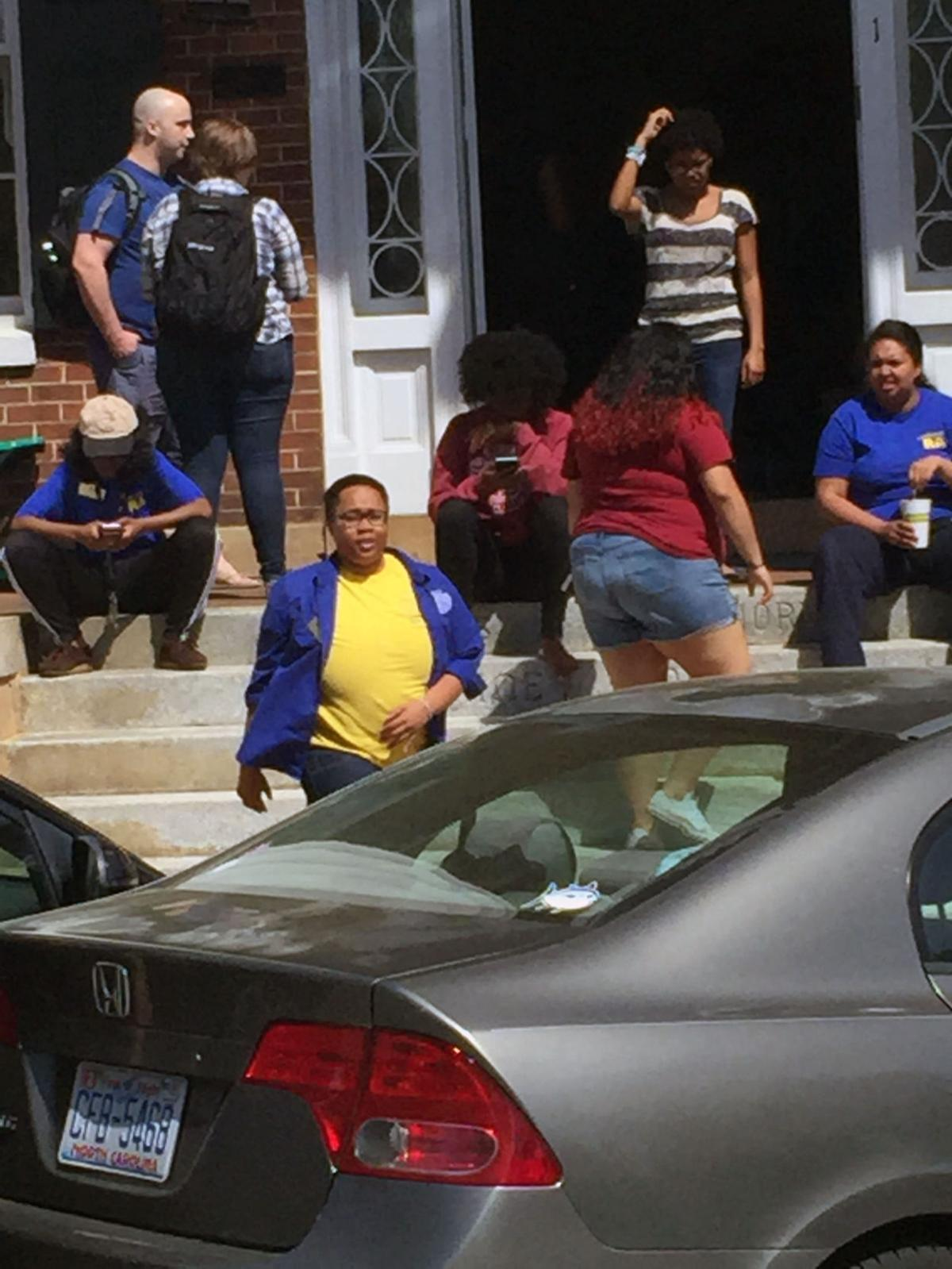 Salem College protest 2