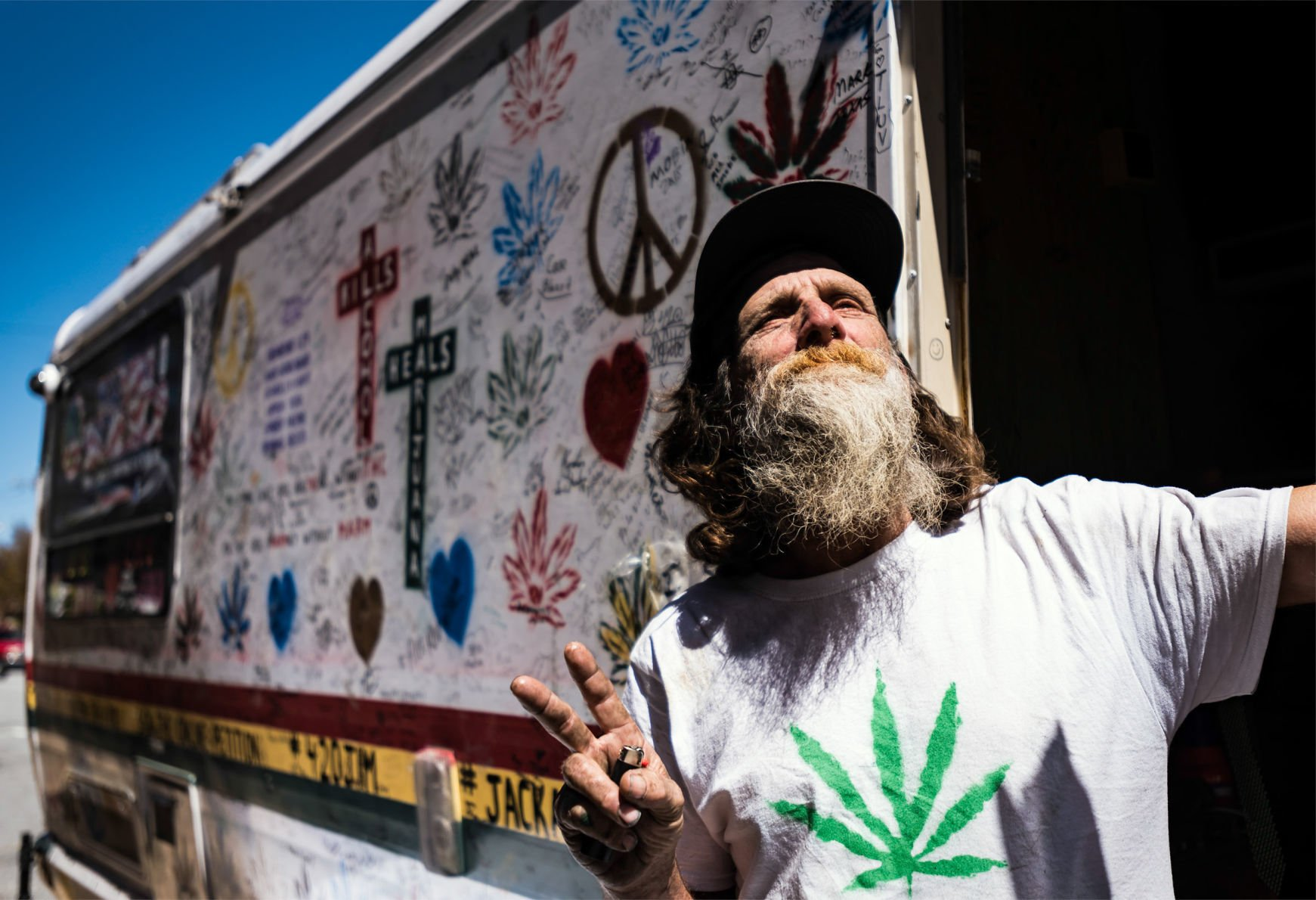 Marijuana advocate brings his Cannabus to Burke Street in Winston-Salem | Winston Salem Journal