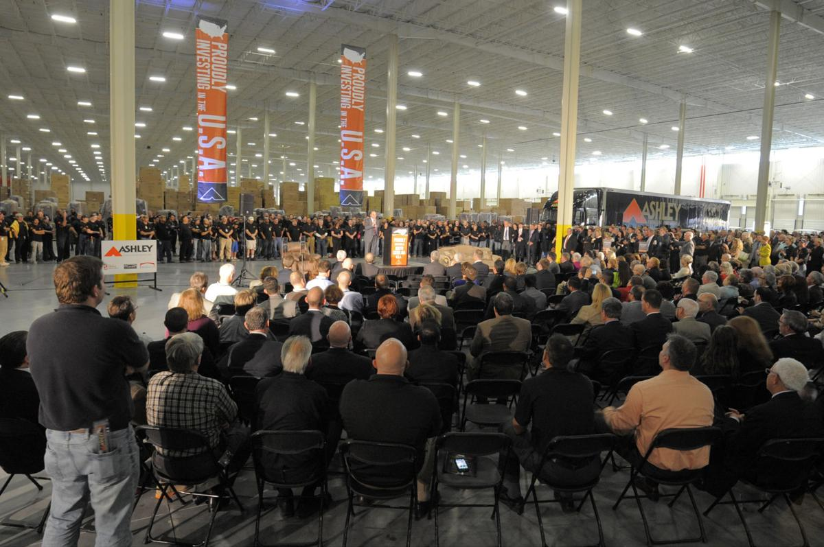 Grand opening of Ashley manufacturing, distribution center