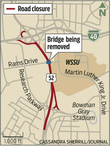 Section of US 52 to close this weekend for bridge removal