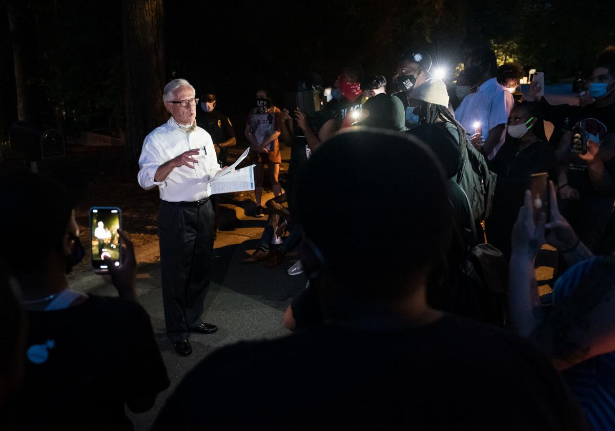 Protest at Mayor Allen Joines' House