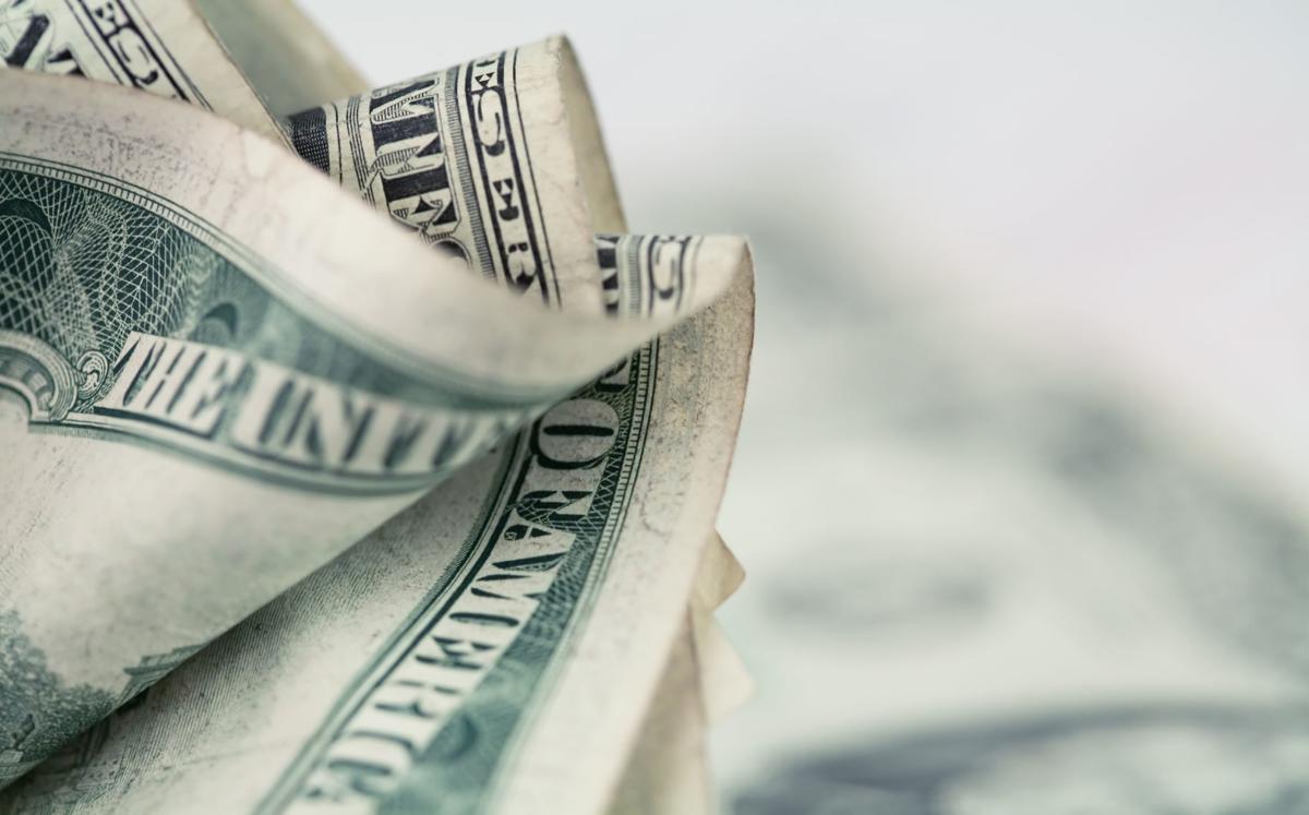 Money background - US dollars background. (copy)