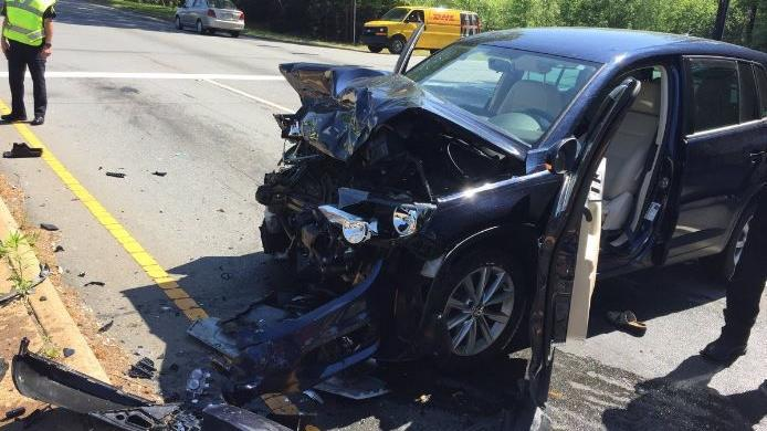 2 women hurt in crash on Silas Creek Parkway on Wednesday