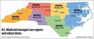 NC Medicaid managed care regions