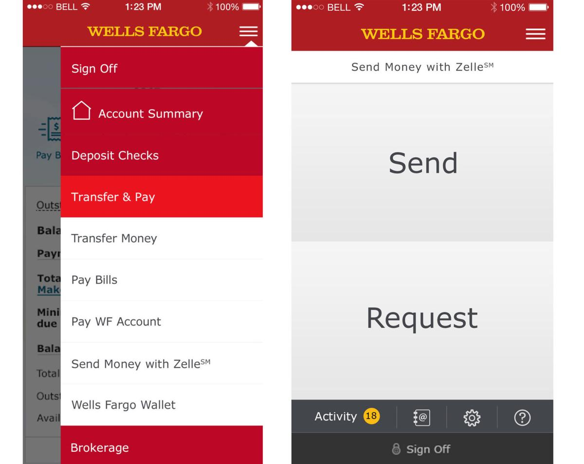 The Zelle System Represents A Technological Advance In Banking Allowing For Very Quick Sending And Receiving Of Money Above Well S Fargo Mobile