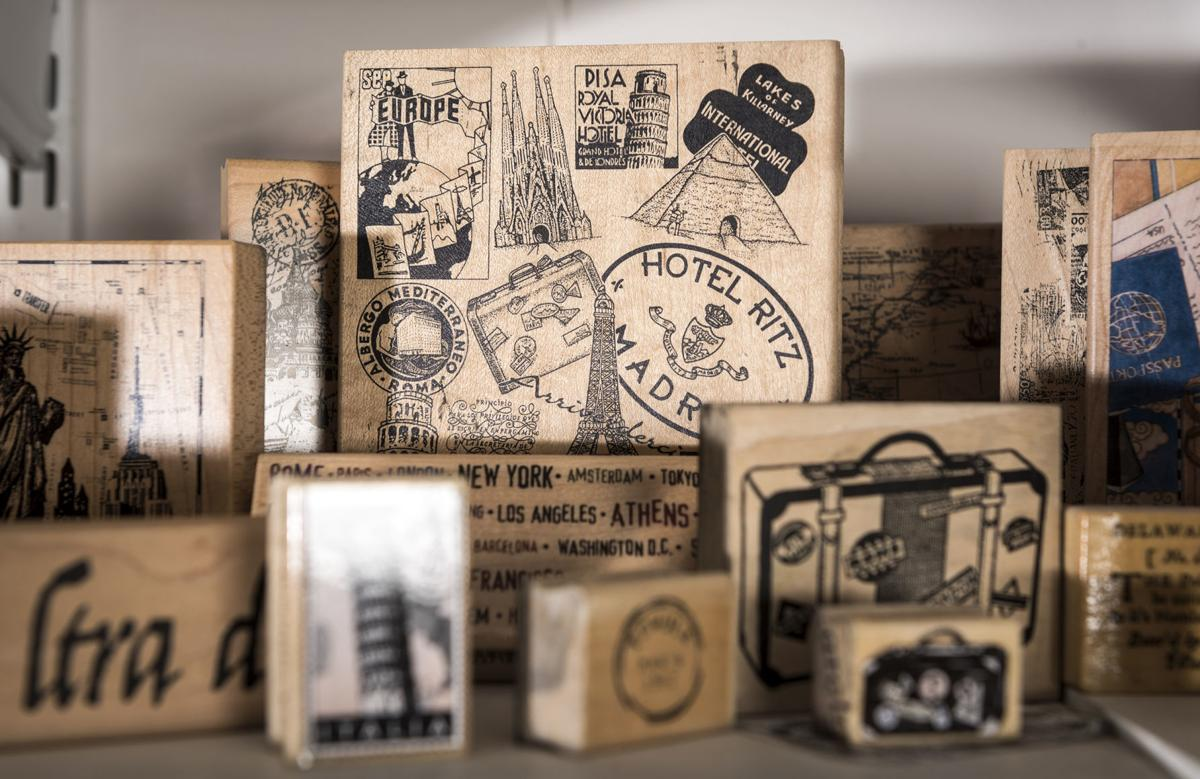 Name Rubber Stamp for Kids Carolyn