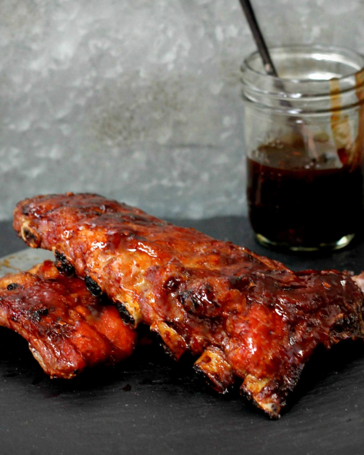 Sweet and Sour Pomegranate Lacquered Ribs