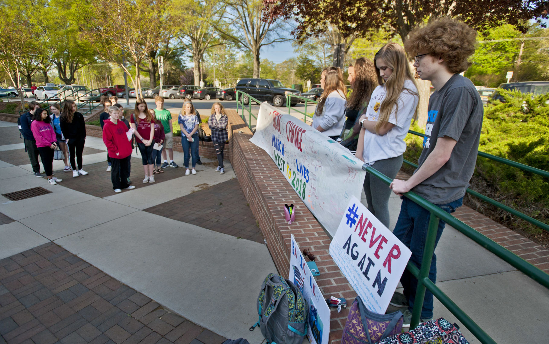 West Forsyth students call for gun law reform as they mark anniversary of Columbine massacre | Winston Salem Journal