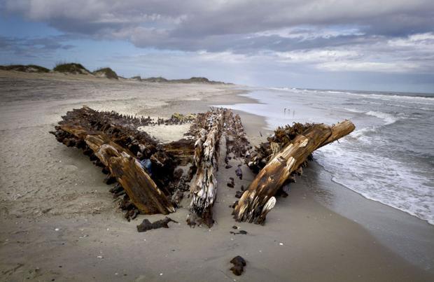 Shifting Sands Reveal Then Hide Shipwrecks Along Outer