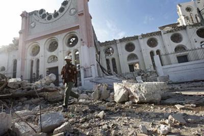 Haitians flee in fear as big aftershock hits