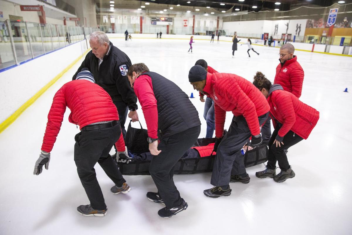 Cone Health responders trained in ice rink injuries