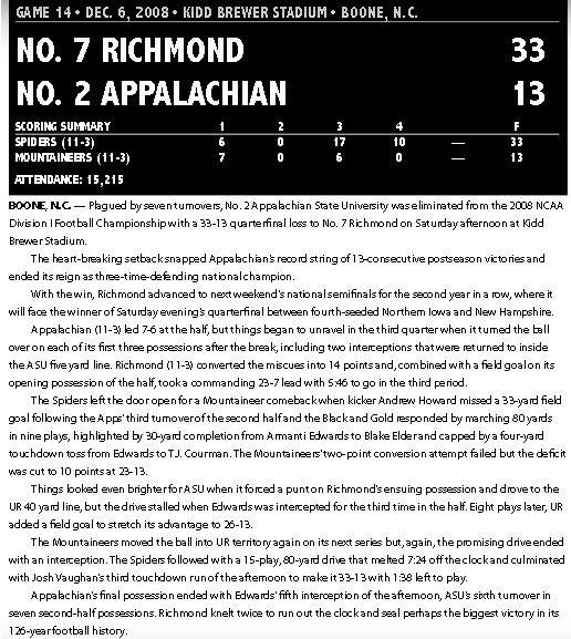 App State vs. Richmond recap
